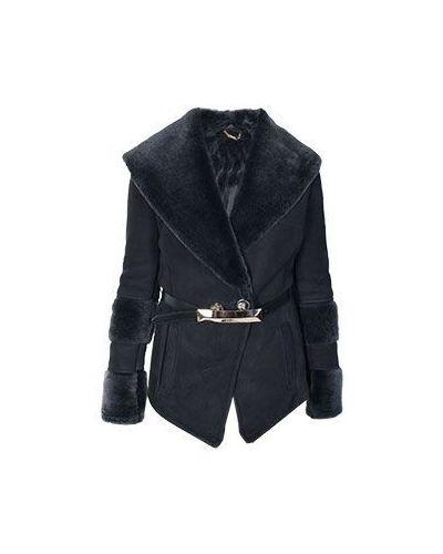 Дубленка зимняя черная Versace Collection