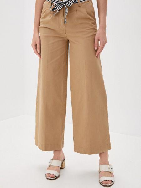 Бежевые расклешенные свободные брюки Marks & Spencer