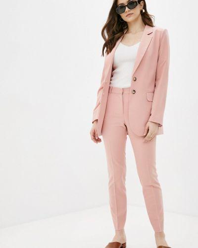 Костюмный розовый брючный костюм Villagi