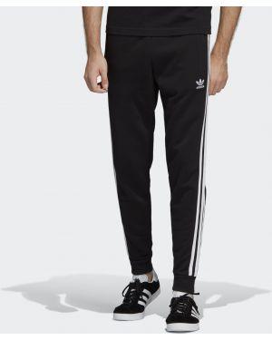 Зауженные брюки черные с лампасами Adidas