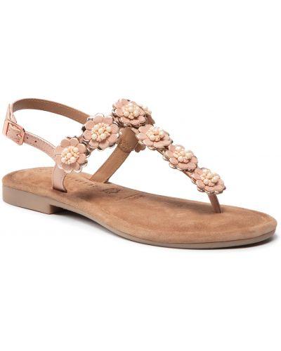 Sandały skórzane - różowe Tamaris