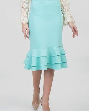 Бирюзовая юбка узкого кроя Das