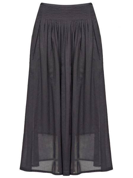 Хлопковая серая юбка на молнии Cappellini