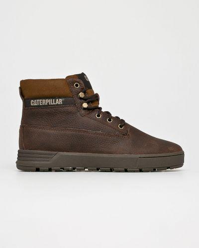 Кожаные ботинки на шнуровке высокие Caterpillar