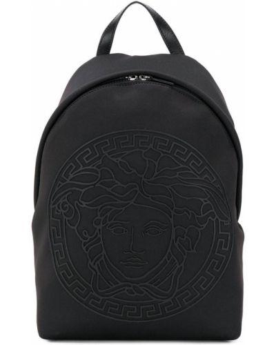 Рюкзак черный с логотипом Young Versace