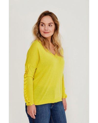 Желтый пуловер Violeta By Mango