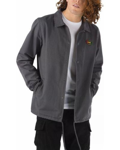 Черная хлопковая куртка Vans