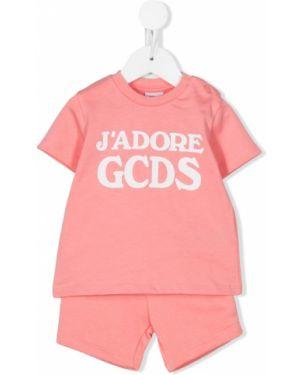 Dres z kieszeniami różowy Gcds Kids