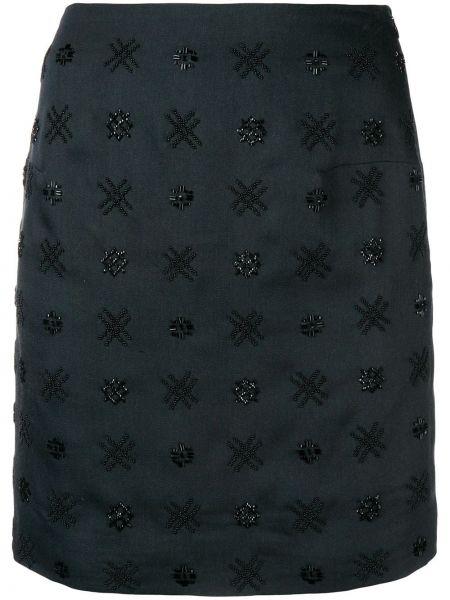 Плиссированная черная юбка мини Noon By Noor