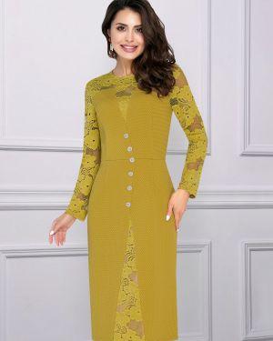 Вечернее платье длинное - зеленое Charutti