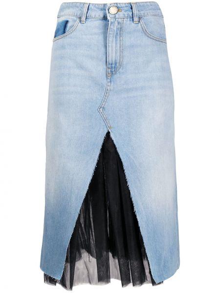 Классическая юбка миди на молнии с поясом из фатина Pinko