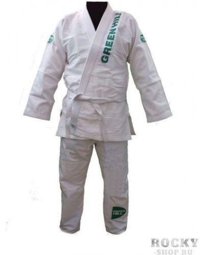 Кимоно белый с рукавами Green Hill