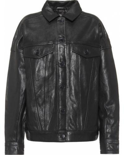 Кожаная куртка - черная J Brand