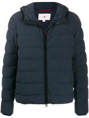 Куртка с капюшоном на молнии синяя Peuterey