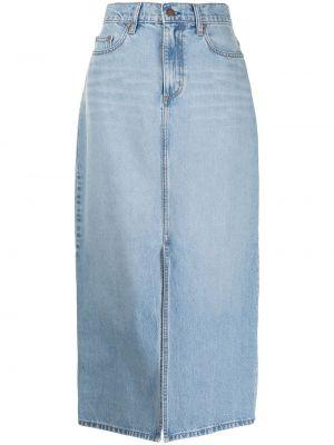 С завышенной талией синяя джинсовая юбка с разрезом Nobody Denim