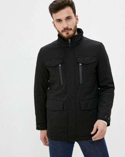 Черная утепленная куртка Enrico Cerini