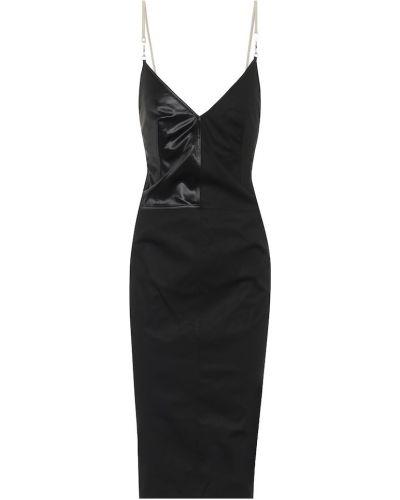 Grunge czarny bawełna bawełna sukienka Rick Owens