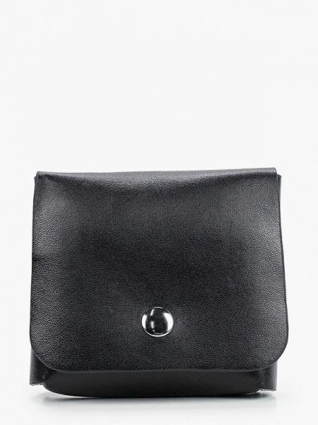 Черная поясная сумка с помпоном из искусственной кожи Bezko