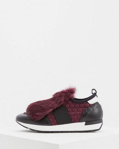 Кроссовки с мехом низкие Pollini