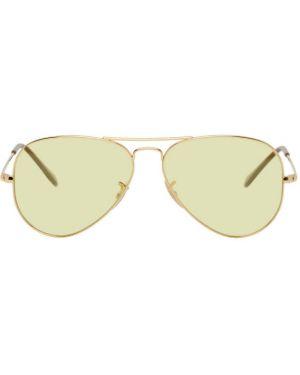 Okulary przeciwsłoneczne żółty biały Ray-ban