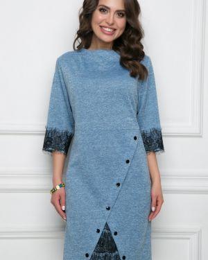 Деловое платье с запахом на пуговицах Bellovera