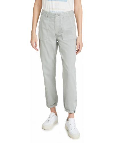 Хлопковые джинсы с карманами с заплатками Joe's Jeans