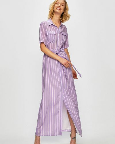 Платье макси из вискозы с карманами Glamorous