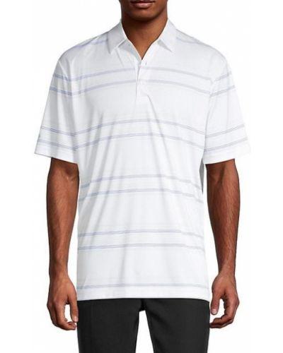 Biały golf krótki rękaw w paski Callaway