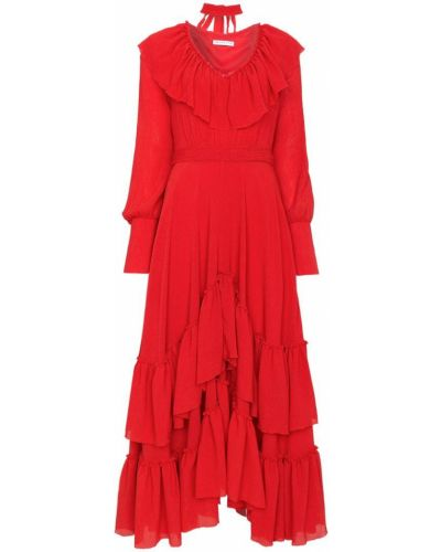 Платье с оборками из полиэстера Rejina Pyo