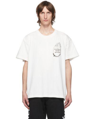Хлопковая с рукавами черная рубашка с короткими рукавами с воротником Vyner Articles