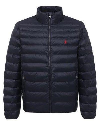 Утепленная пуховая синяя куртка Polo Ralph Lauren