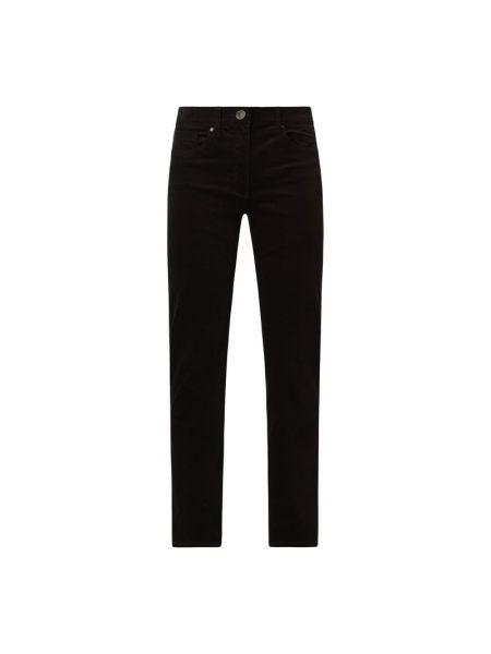 Czarne spodnie sztruksowe Zerres