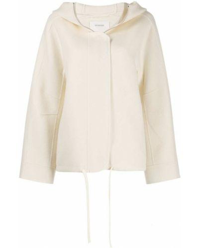 Шерстяное белое длинное пальто Sportmax