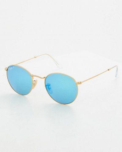 Солнцезащитные очки золотого цвета Ray-ban