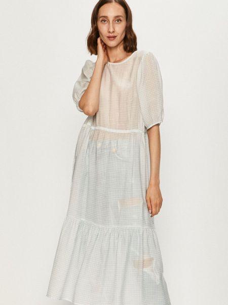 Белое платье с вырезом с оборками Levi's®