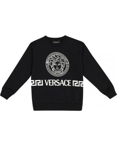 Dom czarny bawełna bawełna bluza Versace Kids