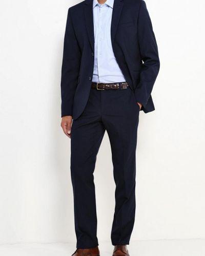Костюмный синий костюм классический Stenser