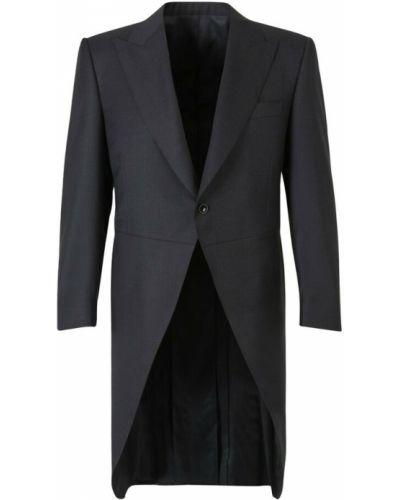 Szary garnitur wełniany Canali