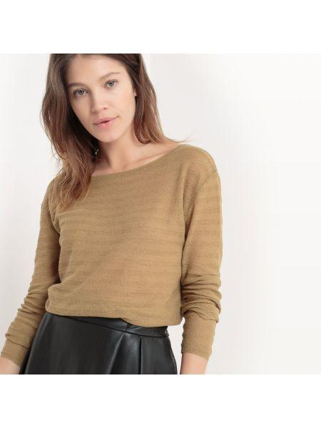 Ажурный пуловер льняной тонкий La Redoute Collections