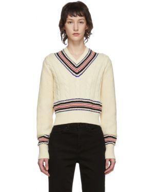Sweter z kołnierzem z dekoltem w szpic Rag & Bone