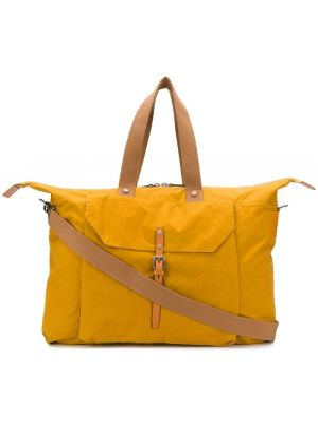 Желтая дорожная сумка с декоративной отделкой Ally Capellino