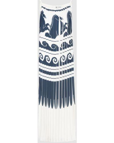 Белое платье миди Vionnet