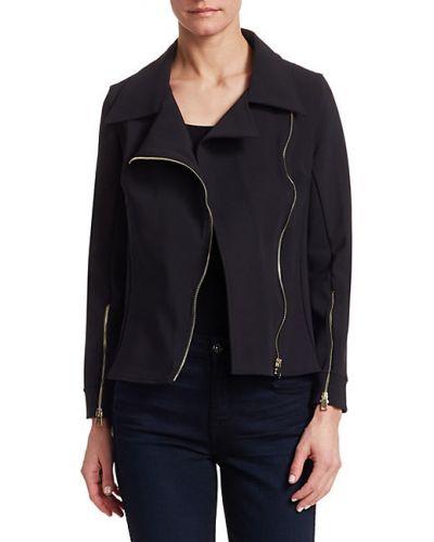 Трикотажная черная длинная куртка с воротником Chiara Boni La Petite Robe