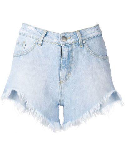Джинсовые шорты с карманами со стразами на пуговицах Federica Tosi