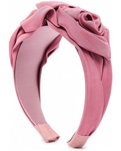 Różowa opaska z jedwabiu Jennifer Behr