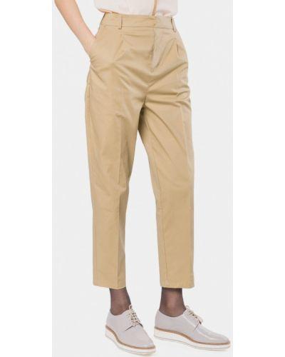 Бежевые брюки повседневные Mr520