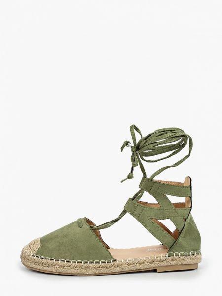 Зеленые текстильные эспадрильи Bellamica