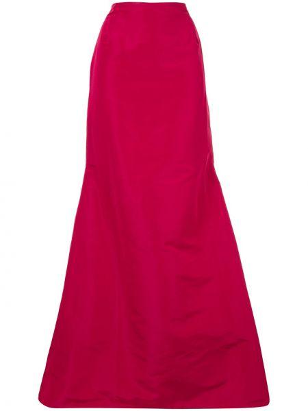 Różowa spódnica maxi rozkloszowana z wysokim stanem Carolina Herrera
