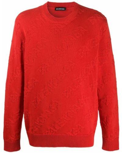 Czerwony sweter Balenciaga