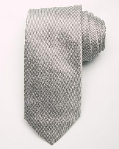 Галстук итальянский серебряный Costume National